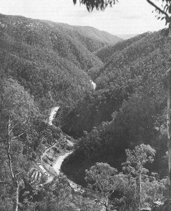 Plate 1. – View from Above the Power Station Looking Northward Down the Valley of Tumut River
